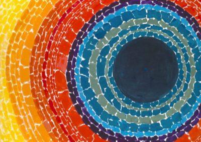 Sun Collage inspired by Alma Thomas – Chloe Morrison